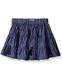 Mud Pie Baby Toddler Girls Chambray Denim Tassel Skirt