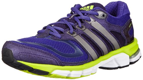 adidas Performance Response Cushion 22 W Q21396, Damen Laufschuhe, Violett (Blast Purple F13/Electricity/Tech Silver Met. F13), EU 44 2/3 (UK 3.5) (Cushion Ultra Laufschuhe)