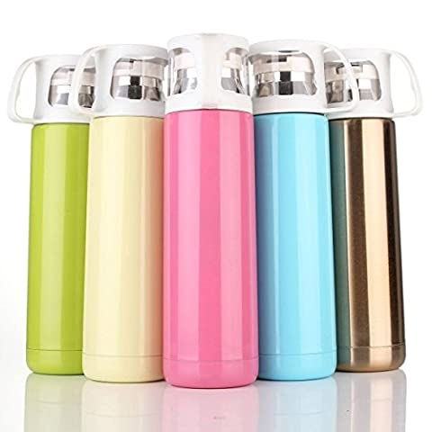 CAMTOA Vacuum Flask, 500ML Stainless Steel Water Bottle,with a Handle Vacuum Cup for Hot and Cold Drinks Coffee Mug
