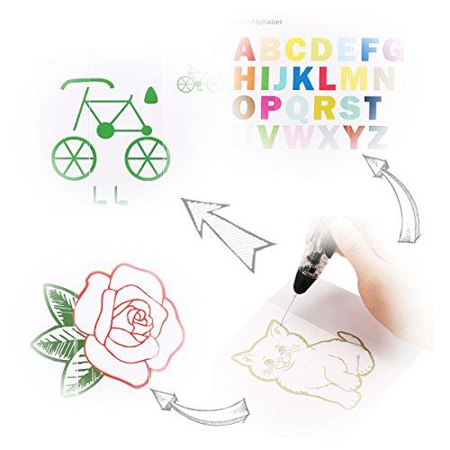 FUNTOK 3D Stift Printing Pen Printer Pen Druck Intelligente Niedrigen Temperatur 3D Stift Beste DIY Geschenk für für Kinder und Erwachsene - 4