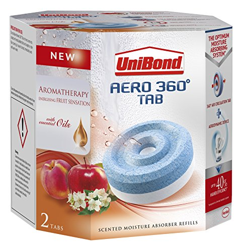 UniBond 2091538 Aero 360 Fruit Sensation Moisture Absorber Refills - White (Pack of 2)