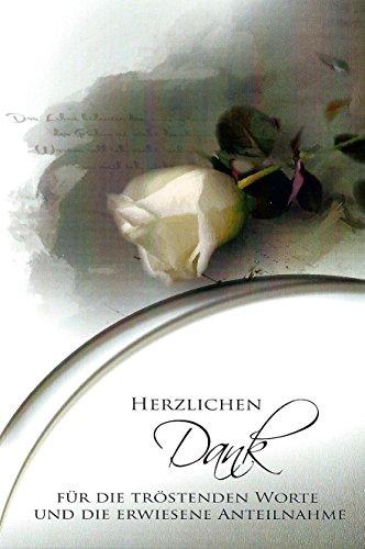 10 Danksagungskarten Trauerkarten mit Umschlägen Motiv Rose Trauerkarte Trauer Danke (K/H38)