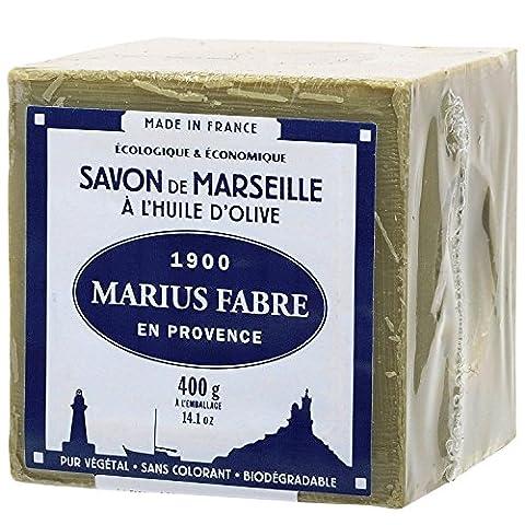 Marius Fabre Cube of Pure Marseilles Soap (400G, 1. Green (Olive Oil))