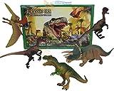 5pc PLASTIC DINOSAUR T REX ANIMALS PLAY TOY ACTION FIGURES BOX CHILDREN GAME SET - MTS - amazon.co.uk