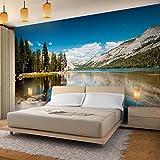 Fototapete Berge 352 x 250 cm - Vliestapete - Wandtapete - Vlies Phototapete - Wand - Wandbilder XXL - !!! 100% MADE IN GERMANY !!! Runa Tapete 9100011a