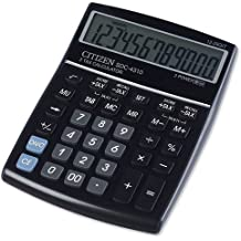 Citizen SDC-4310 - Calculadora (Escritorio, Basic calculator, Negro, Botones, Batería/Solar, CR2032)