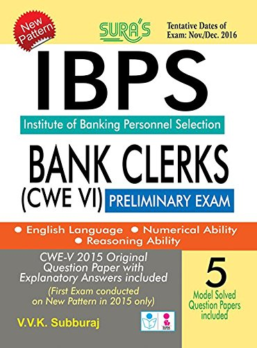 IBPS Bank Clerks CWE VI Preliminary Exam Book  available at amazon for Rs.182