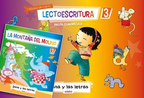 LECTOESCRITURA CUADERNO 3 PAUTA CUADRICULA + 1 CUENTO - 9788468306612