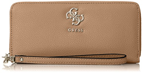 Guess Damen Slg Wallet Geldbörse, Braun (Tan), 2x10x21 centimeters (Guess Brieftasche Braun)