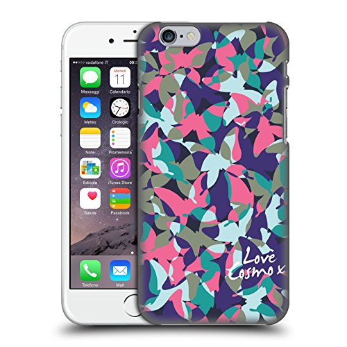 Official Cosmopolitan Pastel Camo Hard Back Case for Apple iPhone X Purple Pink