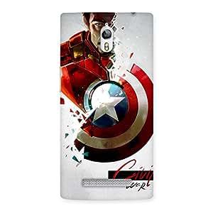 Impressive CV War Multicolor Back Case Cover for Oppo Find 7