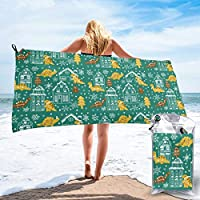 Socksforu Fast Quick Dry Towel,Sports & Beach Towel.Dinosaur Suitable For Camping, Gym, Yoga,Swimming,Travel,Hiking,Backpacking.