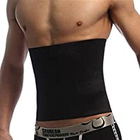 Men Black Slimming Slim Lift Body Shaper Tummy Belt Waist Support