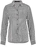 TAIFUN Damen Bluse Langarm Hemdbluse mit Streifen Schwarz Streifen 42