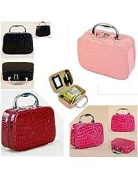 LAZYMARTS Makeup-Box-Storage-Bag-Beauty-Cosmetic-Tools-Organiser-Case-Holder-1piece,MAROON