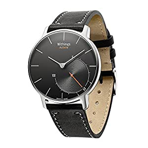 Aresh compatible Withings Activité Nokia Withings Steel HR 36mm Band,18mm Width Quick Release Genuine Leather Nokia Strap Accessory compatible Withings Activité, Activité Pop, Activité Steel or Withings Steel HR 36mm(Black)