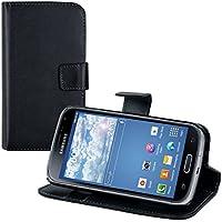 kwmobile Elegante borsa in ecopelle per Samsung Galaxy K Zoom con chiusura magnetica e funzione di supporto in nero