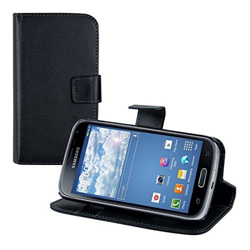 kwmobile Schutzhülle kompatibel mit Samsung Galaxy K Zoom - aus [Kunstleder] - Case mit [Kartenfächer] in [Schwarz] -