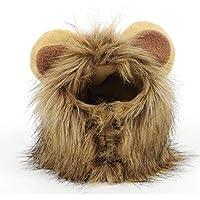Linda forma de animal doméstico divertido Cosplay del casquillo del sombrero de león perrito gatito león del gato del sombrero cómodo Sombrero suave del perrito de la peluca animales tapa transpirable