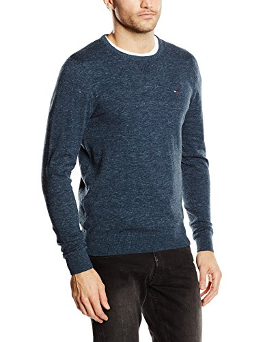 Tommy Hilfiger - Original Cotton Blend Cn Sweater Ls, Maglione Uomo Nero (BLACK IRIS-PT 002)