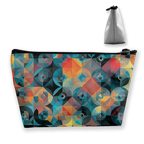 Trapezoid-Make-upbeutel-Kupplungs-bunte Geometrie-Muster-Reise-Kosmetik-Taschen -