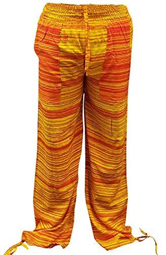 La Leela morbido dolce rayon donne leggeri spiaggia usura coprire costumi da bagno bikini donne peluche pantaloni con coulisse in forma salone nightwear tasca del pigiama rilassato Frutto Arancione