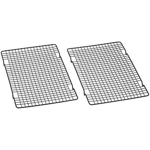 Baker's Secret 1061483 10-by-16-Inch Nonstick Cooling Rack Set of 2