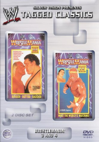 Tagged Classics - Wrestlemania 3 and 4 Wrestlemania 3 Dvd