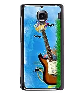 Fuson Premium 2D Back Case Cover Stylish Guitar With Multi Background Degined For Xiaomi Redmi 1S::Xiaomi Redmi (1st Gen)