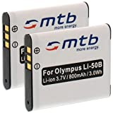 2x Batería Li-50b para Olympus VH-510, VH-520, VR-340, VR-350, VR-360, XZ-1, XZ-10.... (ver...