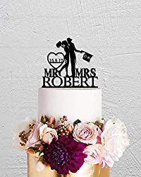 Wedding Cake Topper,Joker and Harley Quinn Cake Topper,Mr And Mrs Cake Topper,Custom Cake Topper,Last Name Topper,Personalized Initials Birthday Anniversary Wedding Gift