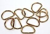 D-Ringe/Halbringe, 10 Stück 20x12,7x2,5mm, hellgold