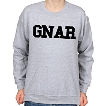 Gnar College Pull de Style Hipster pour femme Taille L (Gris)