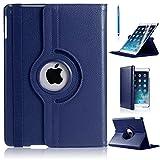 360Grad drehbare, dünne Schutzhülle aus PU-Leder mit Ständerfunktion für iPad Pro, blau, IPAD PRO