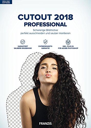 FRANZIS CutOut 2018 professional|2018 professional|Für bis zu 3 Geräte|-|Freistellsoftware für Windows PC und Mac OS X|Disc|Disc