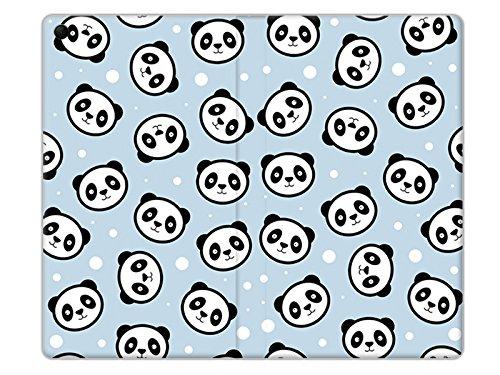 etuo Lenovo Tab 3 7.0 (A7-30) - Hülle Flex Book Fantastic - Panda auf Blauem Grund - Tablethülle Schutzhülle Etui Case Cover Tasche für Tablet