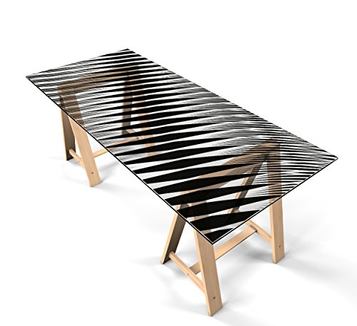 """Glastischfolie Dekofolie Klebefolie für Glastisch Schutzfolie """"Design Linien"""" selbstklebend Tischfolie Dekorfolie Tischschutz 180cm x 90cm"""