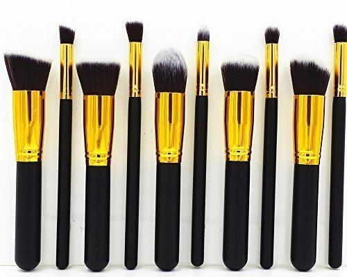 10 PCS Kit de Pinceau maquillage Ombre à Argent Rose pourpre Blush Fondation liquide Pinceau Poudre Fond de teint Anti-cerne Kit Pinceaux