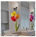 Unbekannt XXL Wandaufkleber / Sticker - Tulpen mit Stengel - Frühlingsblumen Frühling - selbstklebend für Wohnzimmer und Deko Wandsticker Aufkleber Blumen