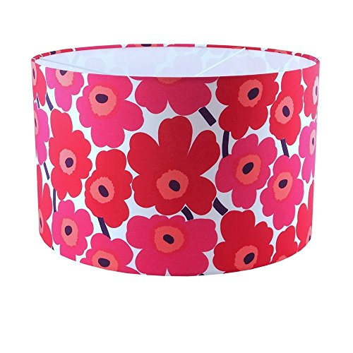 marimekko-red-poppy-fabric-handmade-drum-lampshade