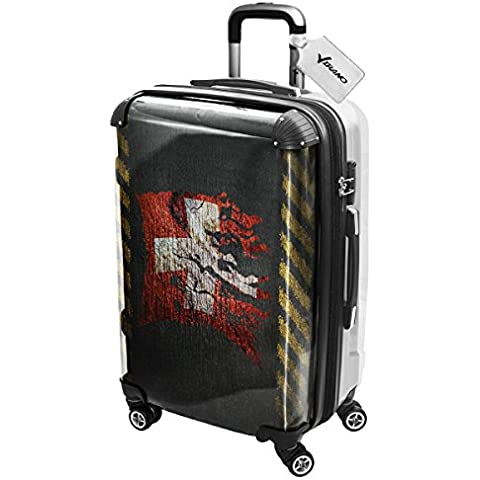 Bandiera Strappati Collezione 3, Custom Ultraleggero 4 Route Wheel Spinner Luggage Valigia Bagaglio a Mano Trolley Rigido Hand Case Shell Cover Trolley Travel