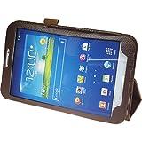 Copertura di cuoio artificiale per Samsung Galaxy Tab 3 8.0 - Wallet blu - Cover PhoneNatic + pellicola protettiva