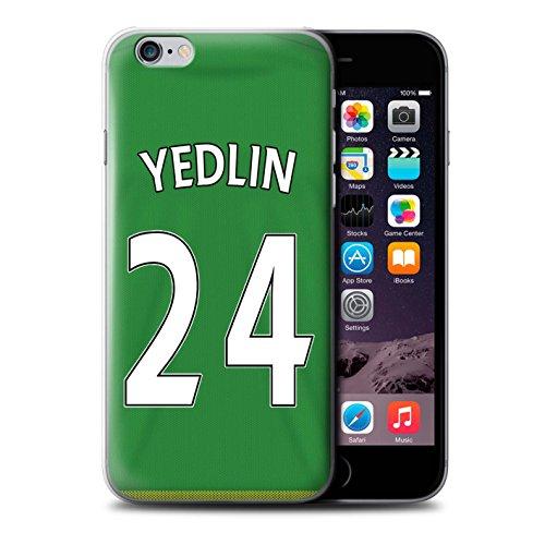 Officiel Sunderland AFC Coque / Etui pour Apple iPhone 6S / Brown Design / SAFC Maillot Extérieur 15/16 Collection Yedlin