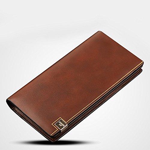 ZXDOP Brieftasche Männer Leder Brieftasche Retro Männer Langer Abschnitt Von Herren Leder Brieftasche ( farbe : 4# ) 3#