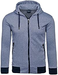 BOLF – Sweat-shirt à capuche – Fermeture éclair – BBG 8006B – Homme