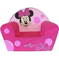 Fun House 712173- Sillón de Espuma, diseño de Minnie Mouse, poliéster (52x 33x 42cm), Color Rosa