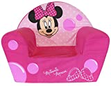 Fun House 712173 Fauteuil club en mousse Motif Minnie Polyester Rose  52 x 33 x 42 cm