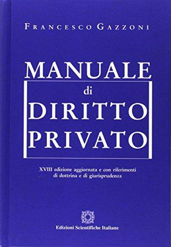 Manuale di diritto privato di Francesco Gazzoni