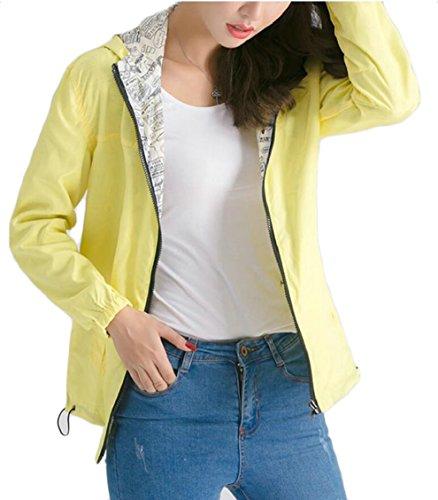 Gocgt Women's Lightweight Waterproof Raincoat Quick-Drying Hooded Jacket