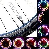 Inovey 2 Pcs 5 Led Clignotant 8 Feu Valve Lumineux Bicyclette Roue